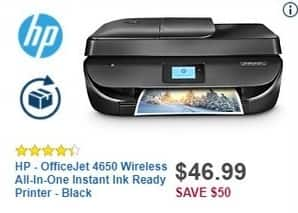 Best Buy Black Friday: HP OfficeJet 4650 Wireless All-In-One Instant Ink Ready Printer for $46.99