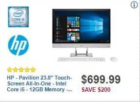 "Best Buy Black Friday: HP Pavilion 23.8"" Touch-screen All-in-One Computer Intel Core i5, 12GB Ram, 2TB HDD, Win 10 for $699.99"