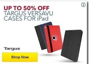 Best Buy Black Friday: Targus Versavu iPad Cases - Up to 50% Off