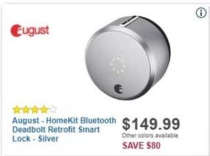Best Buy Black Friday: August HomeKit Bluetooth Deadbolt Retrofit Smart Lock for $149.99