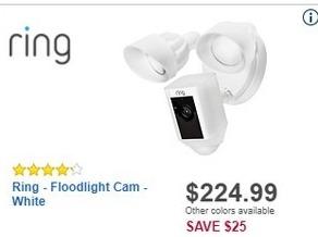 Best Buy Black Friday: Ring Floodlight Cam for $224.99