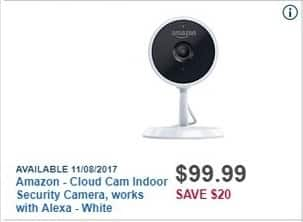 Best Buy Black Friday: Amazon Cloud Cam Indoor Security Camera, works with Alexa for $99.99