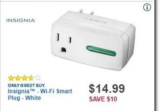 Best Buy Black Friday: Insignia Wi-Fi Smart Plug for $14.99