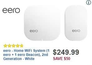 Best Buy Black Friday: eero Home WiFi System (1 eero + 1 eero Beacon), 2nd Generation for $249.99
