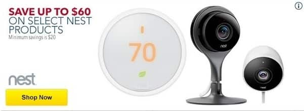 Best Buy Black Friday: Select Nest Products - Save up to $60