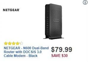 Best Buy Black Friday: NETGEAR N600 Dual-Band Router with DOCSIS 3.0 Cable Modem for $79.99
