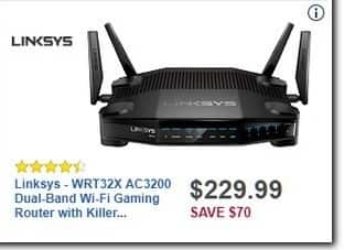 Best Buy Black Friday: Linksys WRT32X AC3200 Dual-Band Wi-Fi Gaming Router with Killer Prioritization Engine for $229.99
