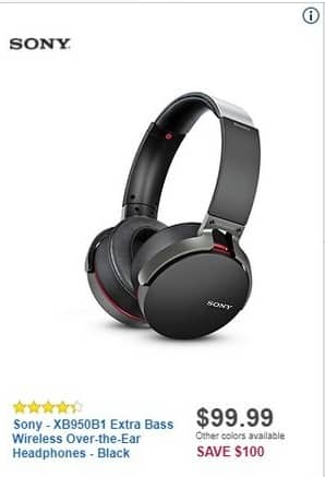 Best Buy Black Friday: Sony XB950B1 Extra Bass Wireless Over-the-Ear Headphones for $99.99