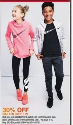 Macy's Black Friday: Nike Hoodies, Tops, Pants & Shorts for Boys' 8-20 - 30% Off