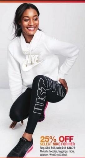 Macy's Black Friday: Nike Metallic Hoodies, Leggings & More for Her - 25% Off