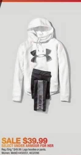 Macy's Black Friday: Under Armour Logo Hoodies or Pants for Her for $39.99