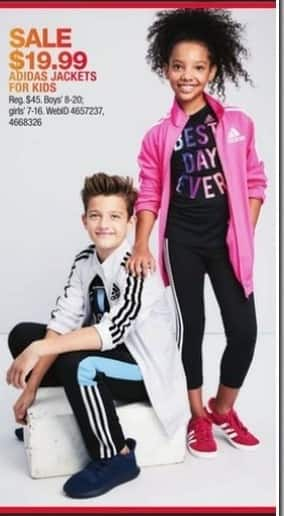 Macy's Black Friday: Adidas Jackets for Kids for $19.99