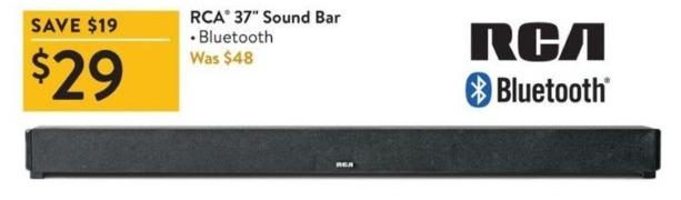 """Walmart Black Friday: RCA 37"""" Bluetooth Sound Bar for $29.00"""