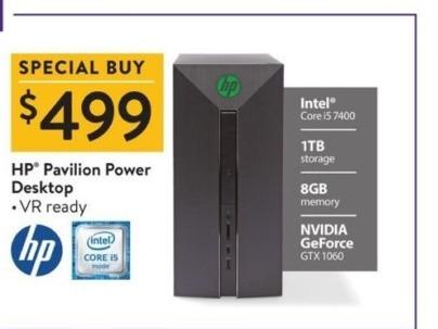 Walmart Black Friday: HP Pavilion Power Desktop Intel Core i5, 8GB Ram, 1TB HDD, GTX 1060, Win 10 for $499.00