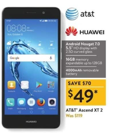 Walmart Black Friday: AT&T Huawei Ascend XT 2 for $49.00