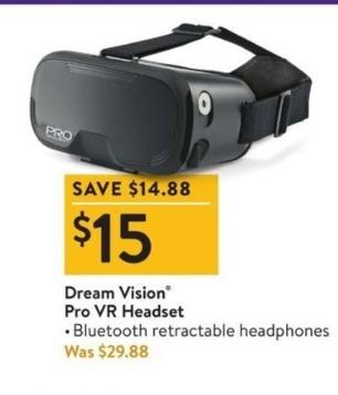 Walmart Black Friday: Dream Vision Pro VR Headset for $15.00