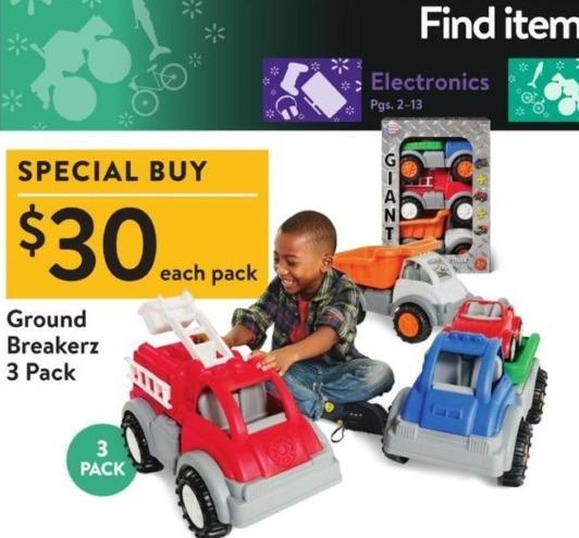 Walmart Black Friday: Ground Breakerz 3-pack for $30.00