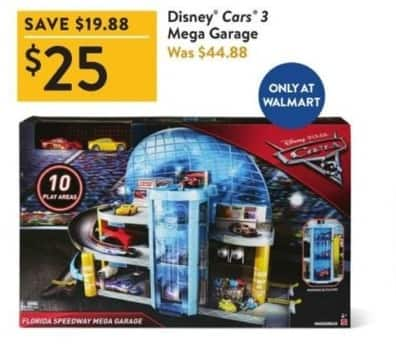 Walmart Black Friday: Disney Cars 3 Mega Garage for $25.00