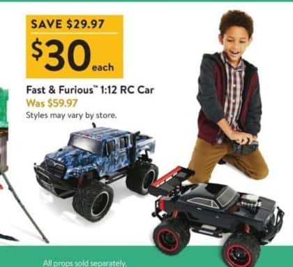 Walmart Black Friday: Fast & Furious 1:12 RC Car for $30.00