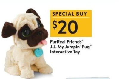 Walmart Black Friday: FurReal Friends J.J. My Jumpin Pug Interactive Toy for $20.00
