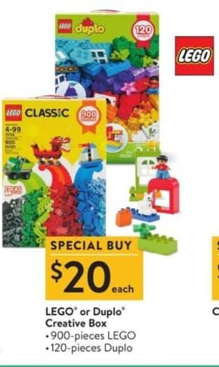 Walmart Black Friday: LEGO or Duplo Creative Box for $20 00