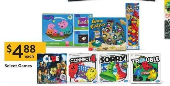 Walmart Black Friday: Connect 4, Clue, Sorry, Trouble & More Select Games for $4.88