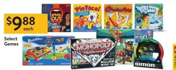 Walmart Black Friday: Speak Out, Pie Face, Monopoly Millionaire, Toilet Trouble & More Select Games for $9.88