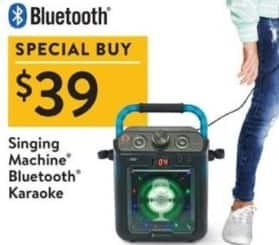 Walmart Black Friday: Singing Machine Bluetooth Karaoke for $39.00