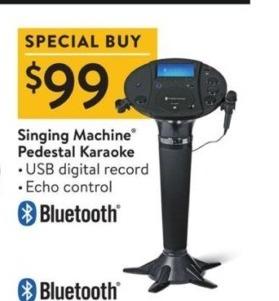 Walmart Black Friday: Singing Machine Pedestal Karaoke for $99.00