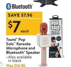 Walmart Black Friday: Tzumi Pop Solo Karaoke Microphone & Bluetooth Speaker for $7.00