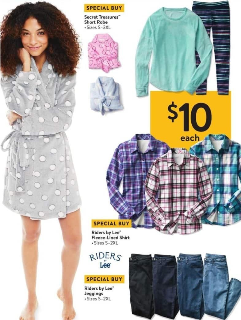 Walmart Black Friday: Riders by Lee Fleece Lined Shirt for Her for $10.00