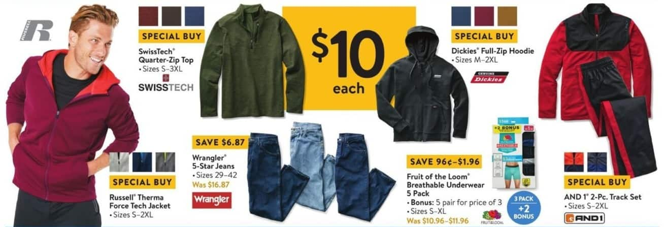 Walmart Black Friday: Fruit Of The Loom 5-pk Breathable Underwear for Him for $10.00