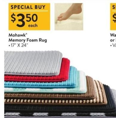 Walmart Black Friday: Mohawk 17-in. x 24-in. Memory Foam Bath Rug for $3.50