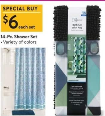Walmart Black Friday: 14-pc Shower Set for $6.00