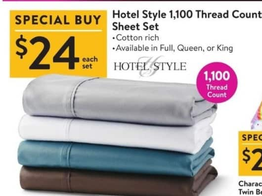 Black Friday Hotel Style 1 100 Thread Count Full Queen Or King Sheet Set For 24 00