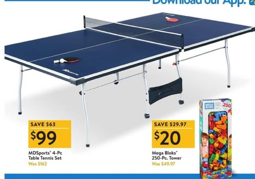 Walmart Black Friday: MDSports 4-pc Table Tennis Set for $99.00