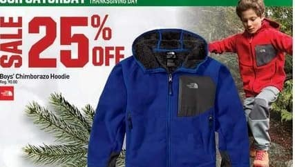 Dicks Sporting Goods Black Friday: The North Face Chimborazo Hoodie for Boys' - 25% Off