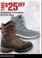 Dicks Sporting Goods Black Friday: All Regular Price Boots $89.99 or More - $25 Off