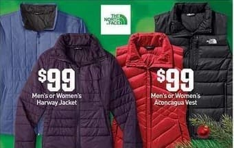 Dicks Sporting Goods Black Friday: The North Face Harway Jacket or Aconcagua Vest for Men or Women for $99.99