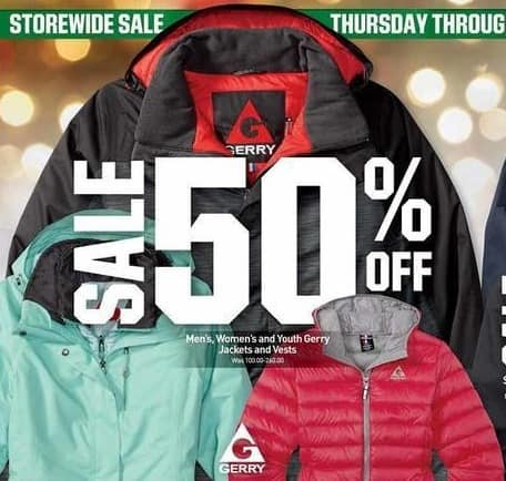Dicks Sporting Goods Black Friday: Gerry Jackets & Vests - 50% Off