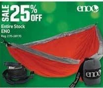 Dicks Sporting Goods Black Friday: Entire Stock of Eno - 25% Off