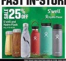 Dicks Sporting Goods Black Friday: S'well & Hydro Flask - 25% Off