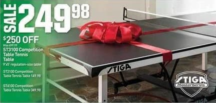 Dicks Sporting Goods Black Friday: Stiga Competition Table Tennis Tables for $149.98 - $249.98