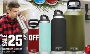 Dicks Sporting Goods Black Friday: Yeti Rambler Bottles - 25% Off