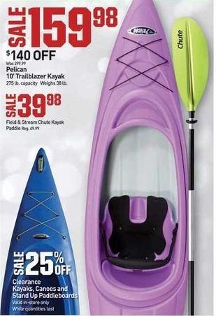 Dicks Sporting Goods Black Friday: Pelican 10' Trailblazer Kayak for $159.98