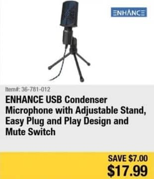 Newegg Black Friday: ENHANCE USB Condenser Microphone for $17.99