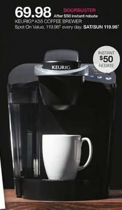 Stage Stores Black Friday: Keurig K55 Coffee Brewer for $69.98 after $50.00 rebate