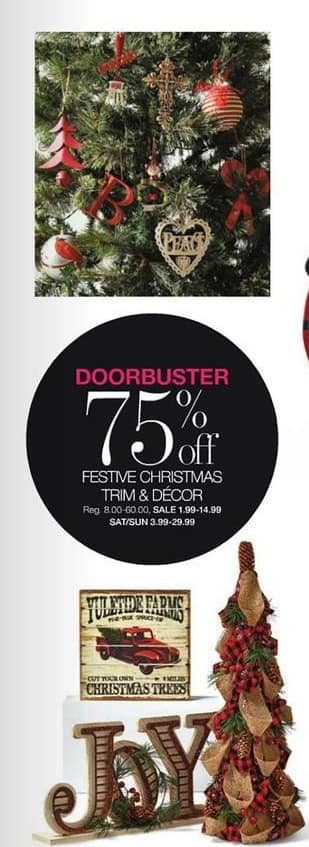 Stage Stores Black Friday: Festive Christmas Trim & Decor - 75% Off