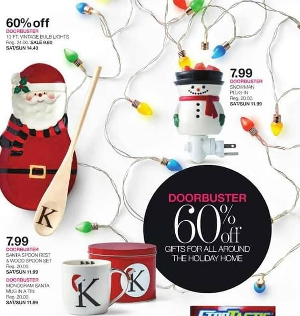 Stage Stores Black Friday: Santa Spoon Rest & Wood Spoon Set or Monogram Santa Mug in a Tin for $7.99