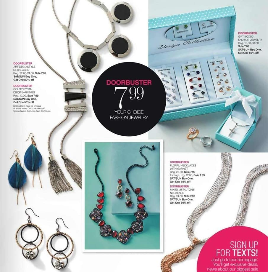 Stage Stores Black Friday: Fashion Jewelry - Your Choice for $7.99